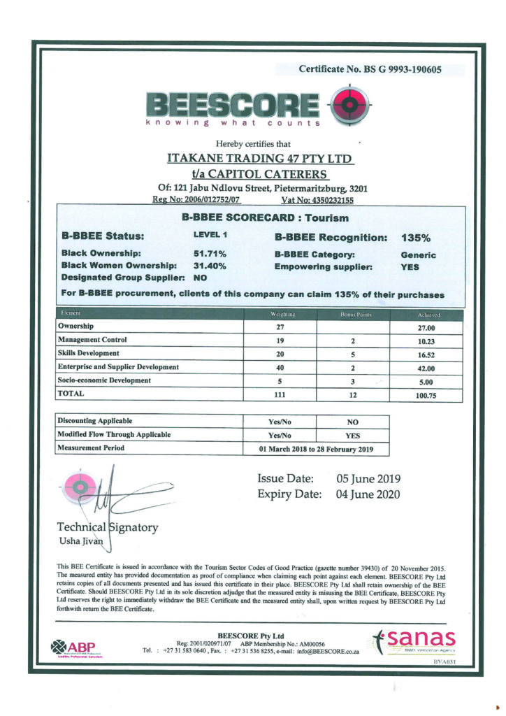 Certificate-Capitol-Caterers-BS-G-9993-190605